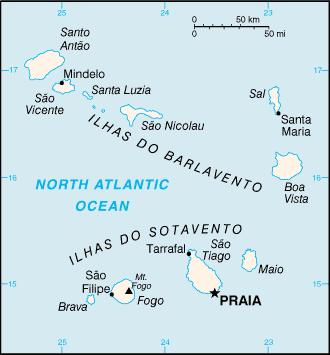 Rozloženie Kapverdských ostrovov